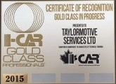 Gold Class Certificate of Recognition